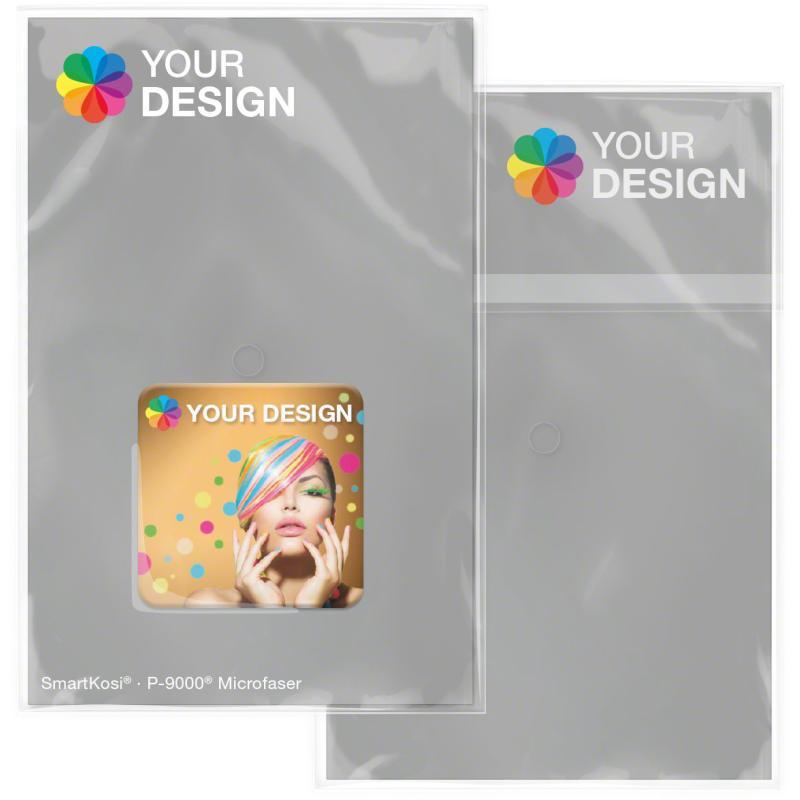 Display-Cleaner SmartKosi® mit individuellem 4C-Digitaldruck als Mailing-Zugabe versenden