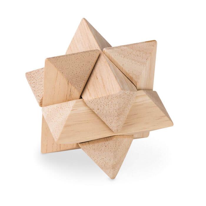 Geduldsspiel Starnats aus Holz für eine neue Herausforderung! Werbeartikel von highflyers.de.