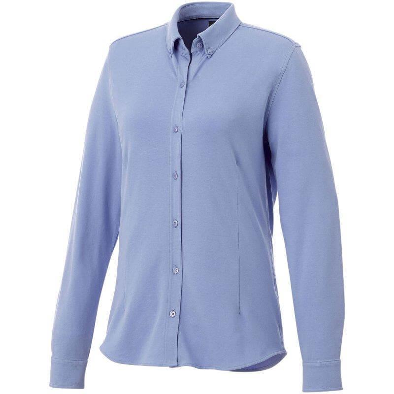 Mit Logo bedruckte oder bestickte Hemden oder Blusen lassen Ihre Mitarbeiter professionell wirken.