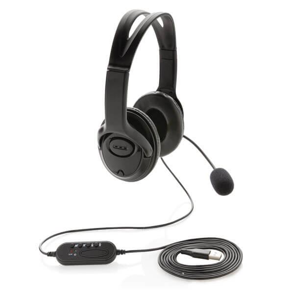 Headset für Videokonferenzen mit Mikrofon