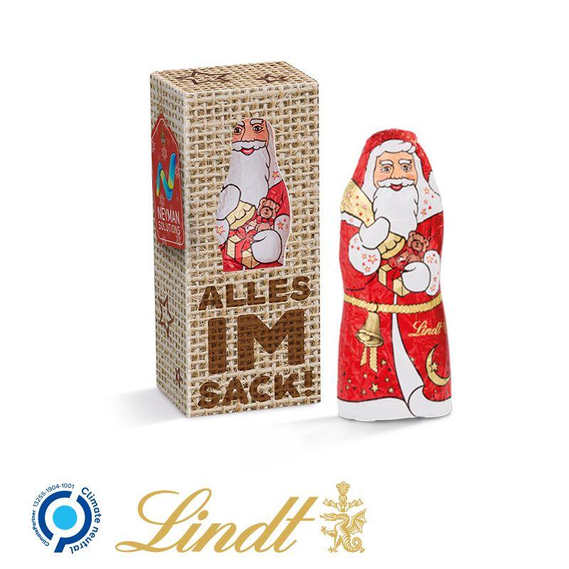 Mini-Schokoladen Weihnachtsmann als Geschenkidee für Ihre Kundnen